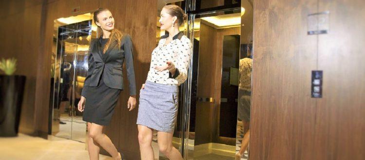 woman near elevator