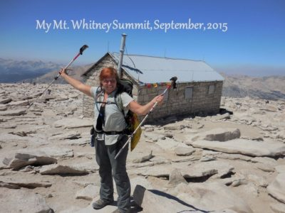 Mt Whitney summit on the JMT